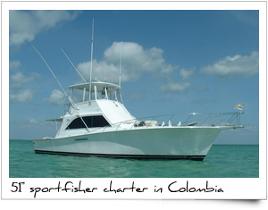 Charter Sport Fishing Boat Colombia