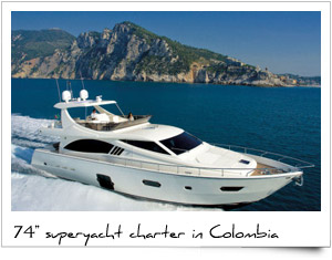 Charter luxury yacht Colombia