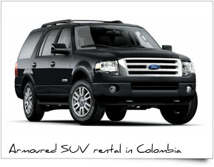 Rent a Car Colombia SUV armored