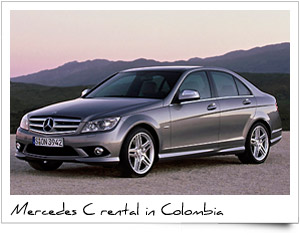 Rent a car Mercedes C class Colombia