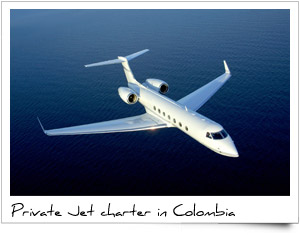 Charter private Jet bombardier learjet hawk gulfstream dassault citation Colombia